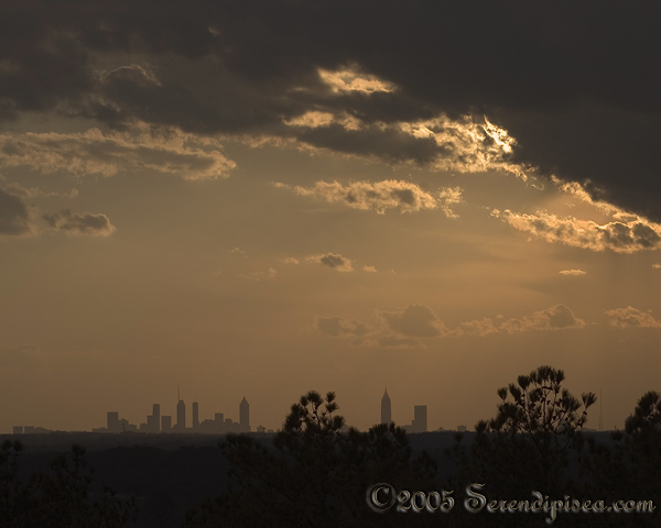 Sunset over Atlanta from