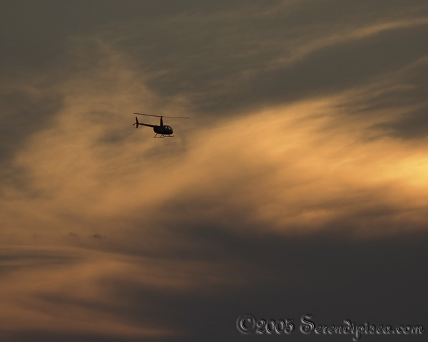 Helicopter flyby while shooting pics from St. Mountain