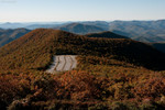 Zoomed in on the parking lot from the top of Brasstown Bald 10/17/10