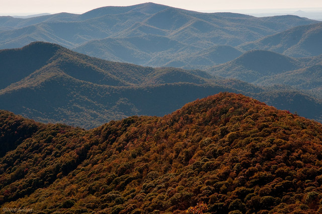 From the summit of Brasstown Bald 10/17/10