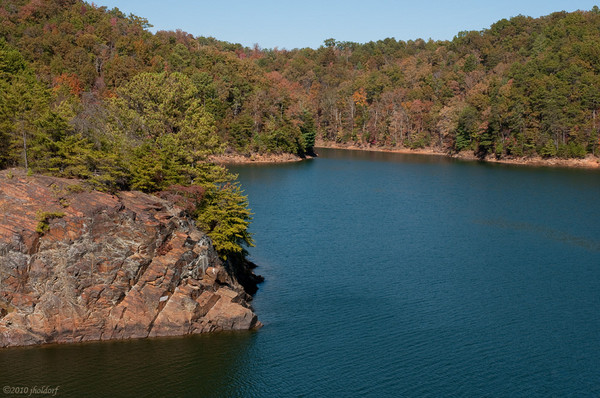 Carters Lake Chatsworth, Ga. at the foot of the Blue Ridge Mountains 10/31/10