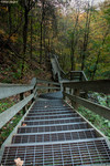 Amicalola Falls State Park Stairs leading down from the trail/viewing area at the Falls back to the trail leading to the parking area 10/31/10